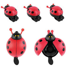 Cute Red Beetle Ladybug Ring Bell For Cycling Bicycle Bike Ride Horn Alarm 1 pc