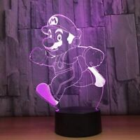 Mario Illusion LED Lamp, 3D Light Experience - 7 Colors Options