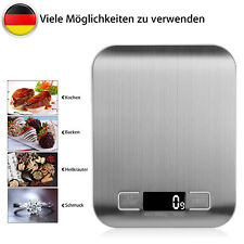 5kg/1g Digital Küchenwaage Edelstahl Briefwaage LCD Display Haushalt g,ml,lb,oz