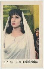 GINA LOLLOBRIGIDA 1962 Dutch Gum TRADING CARD from Sweden FILM STAR CA #54 E4