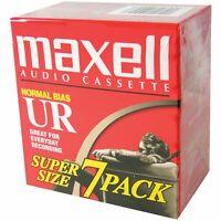 Maxell UR-90 (108575) Blank Audio Cassette Tape 7 Pack
