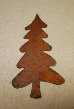 "3 Rusty Tin Trees . 4-1/8"" x 2-1/4"" - - Primitive crafts"