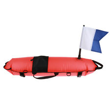 Inflatable Buoy Flag Snorkel Scuba Diving Water Surface Safety Marker