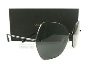 Dolce & Gabbana Sunglasses DG2204 Black Gray 01/87 New Authentic