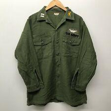 Vintage OG107 Fatigue Shirt, Size 16 1/2 x 32 US Army 1960's-1970's J-50