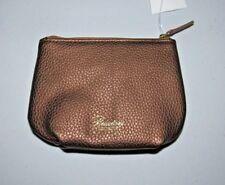 BUXTON COPPER PIK-ME-UP PLEATED PEBBLE FAUX LEATHER COIN PURSE POUCH