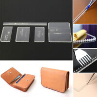 DIY Hand Leather Craft Acrylic Business Card Holder Pattern Stencil Template Set