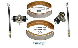 Rear Brake Shoe Complete Kit 1968-on Volkswagen Beetle Bug Ghia Cylinder Hose