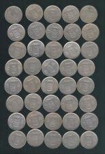 Lot van 40 munten van 5 frank type Ceres van Boudewijn I ,zie foto's ,,Nr 3278 ,