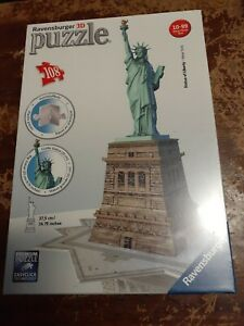 Ravensburger 3D Jigsaw Puzzle - Statue of Liberty - New York - 108 Pieces - NEW