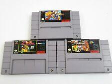 3X Nintendo SNES Games Zool, WWF Super Wrestlemania & NCAA Basketball NTSC U/C