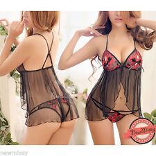 Nylon Babydoll Regular Lingerie & Nightwear for Women