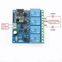 DC5V ESP8266 WIFI 4-Channel Relay Module IoT Wireless Transmitter For Smart Home