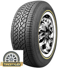 (2) 215/70R15 Vogue Tyre Whitewall W/Gold  Tire