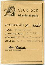 BOB und BEN - Clubausweis - Original 60er - Sammlung #121