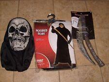 GRIM REAPER DELUXE Fancy Dress Halloween Adult Men's Costume One SZ Fit Most NEW