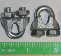 "Cable Clamps 3/16"" U-Bolts Galvanized Clamps Steel Cable Wire Clips U Bolt"