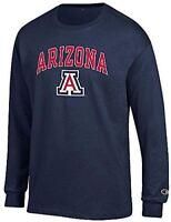 Arizona Wildcats Mens Navy Arena Long Sleeve Tee Shirt by Champion