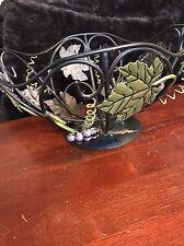 Metal Grape Leaf Fruit Basket Bowl