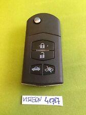 MAZDA 2 3 4 5 6 RX8 MX5 4 BUTTON CENTRAL LOCK ALARM REMOTE KEY FOB VISTEON 41787