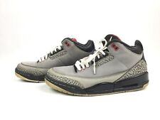 Air Jordan 3 III Retro Stealth Graphite Black Red Shoes 136064-003 Size 7.5