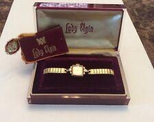 Vintage Lady Elgin watch in original case some repair