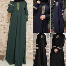 UK Women Plus Size Abaya Jilbab Muslim Maxi Dress Loose Kaftan Long Dress