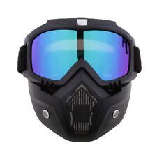 Maschera + Occhiali Da Sole Staccabile Montata Casco Aperto Moto - Colorato