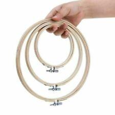 3Pcs Embroidery Hoops Bamboo Circle Cross Stitch Hoop Ring Set Art Craft US SHIP