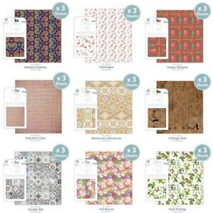 Craft Consortium Decoupage Papers x 3 Your Choice New