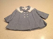 """Vintage Terri Lee Doll Clothes Fits 16"""" Doll Black White Jacket Coat Great!"""