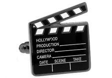 Movie Clapboard Cufflinks Clapper Director Wedding Fancy Gift Box Free Ship USA