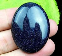 40*30*8mm Blue Sand Stone Cabochon CAB Oval Ring Surface DIY Wholesale GH3B