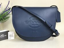 NEW COACH *HUDSON* MIDNIGHT LEATHER SADDLE SHOULDER CROSS BODY BAG *RRP $350*