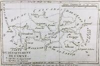 Orne en 1790 Exmes Sées Bellême Essay La Trappe Moulins sur Orne Alençon Falaise