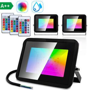 RGB LED Fluter Bunt Wasserdicht IP67 Außenlampe Strahler Flutlicht 10W-30W