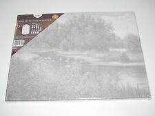 Toile à Peindre Chassis Rectangle 30x40 cm + Peinture & Pinceaux Paysage