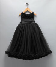 NWT Oopsy Daisy Baby Girls Black Pettiskirt Dress Girls size 4