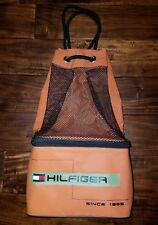 Tommy Hilfiger Orange Lunch Box Drawstring  Backpack Combo Beach Bag