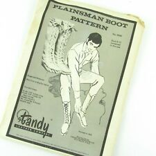 Tandy Leather Company Plainsman Boot Moccasin Pattern 2690 Sizes 5-8 13 Uncut