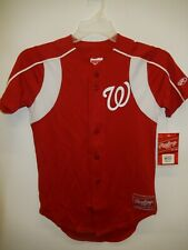 91013-9 Boys Youth WASHINGTON NATIONALS Polyester Baseball Jersey New RED