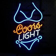 """New Coors Light Blue Bikini Beer Bar Neon Light Sign 17""""x14"""""""