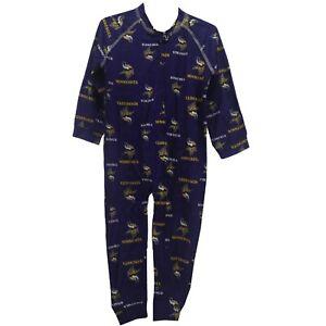 Minnesota Vikings NFL Baby Toddler Infant Size Pajama Sleeper Bodysuit New Tag