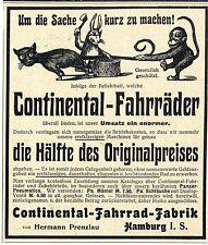 Continental-Fahrrad-Fabrik Herman Prenzlau Hamburg I.S. Historische Annonce 1904