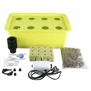DWC Deep Water Culture Hydroponic Grow System Kit, 8 Plant Sites (Holes) Bucket