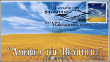 18-185, 2018, O' Beautiful, First Day Cover, Pictorial Postmark, Wheat Field MT