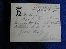 Princess Helen wife of Leopold (Queen Victoria's s - son) hand signed letter
