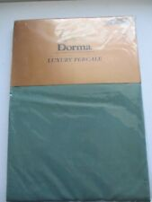 DORMA LUXURY PERCALE SINGLE QUILT COVER FOREST GREEN  135 X200CM POLYCOTTON NEW