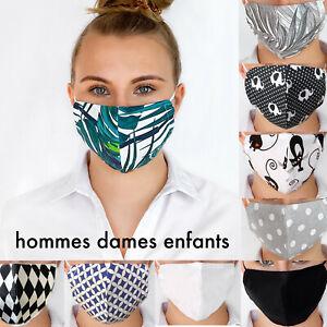 Anti-poussière Pollution Bouche facial VISAGE COTON Lavable Réutilisable