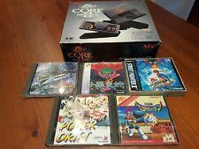 NEC PC-Engine CORE GRAFX 2 Console Boxed TurboGrafx-16 ..+  5 GAMES
